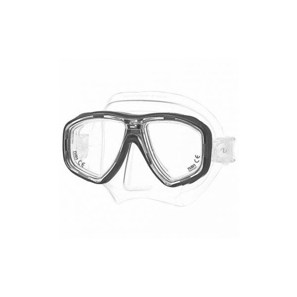 Tusa Freedom Ceos Mask Clear Silicone Black