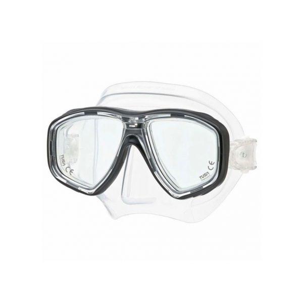 Tusa Geminus Dive Mask Black Clear
