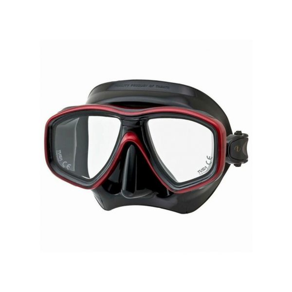 Tusa Geminus Dive Mask Black Red