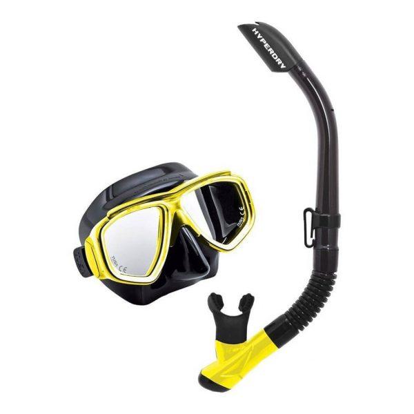 Tusa Splendive Snorkell Set Black Yellow